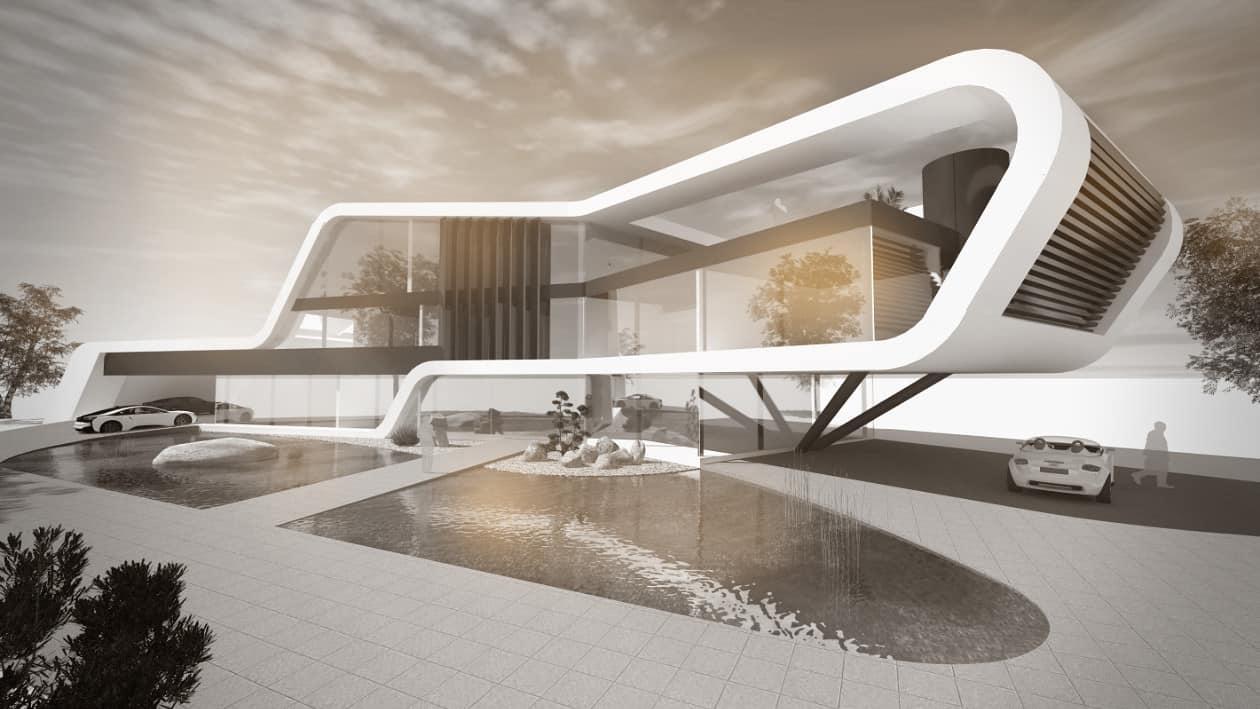 Firmengebäude moderne Architektur