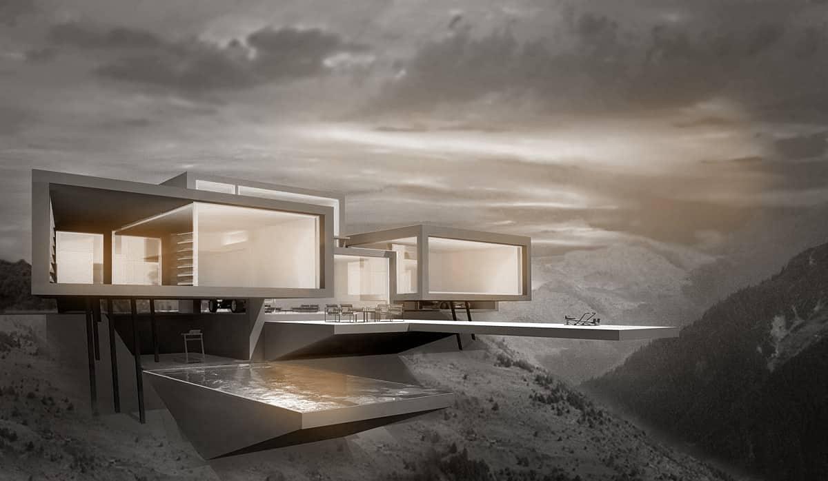 Futuristische Luxusvilla