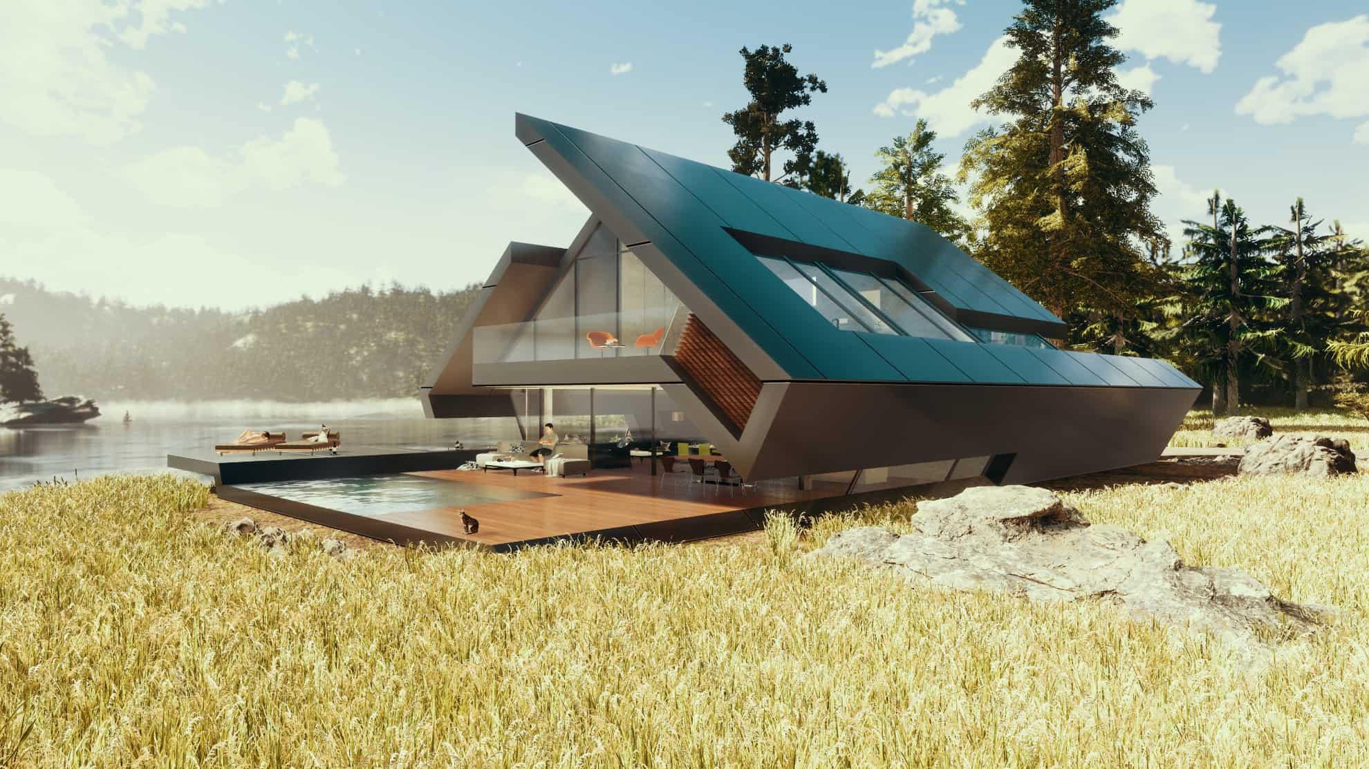 Innovatives satteldachhaus in moderner architektur avantecture - Moderne architektur in deutschland ...
