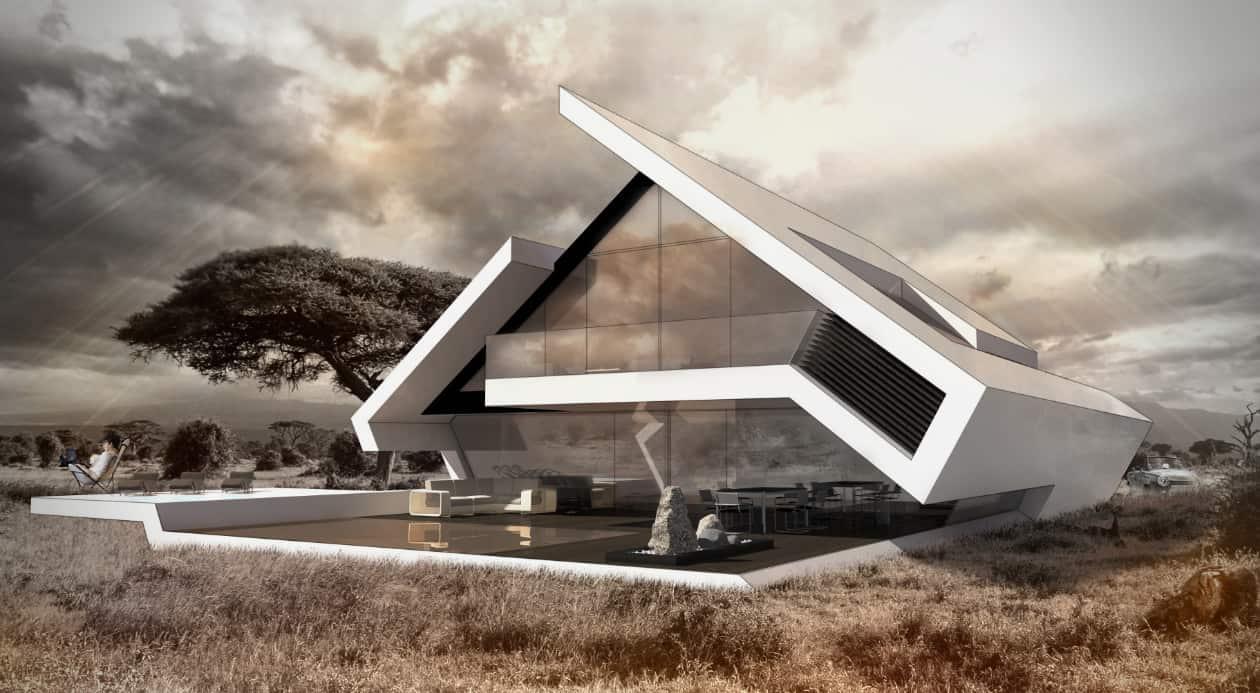 Satteldachhaus moderne Architektur
