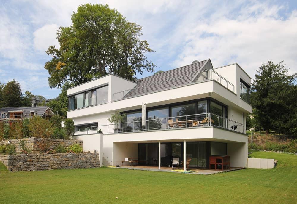 Architektenhaus Satteldach Moderne Architektur Bauen