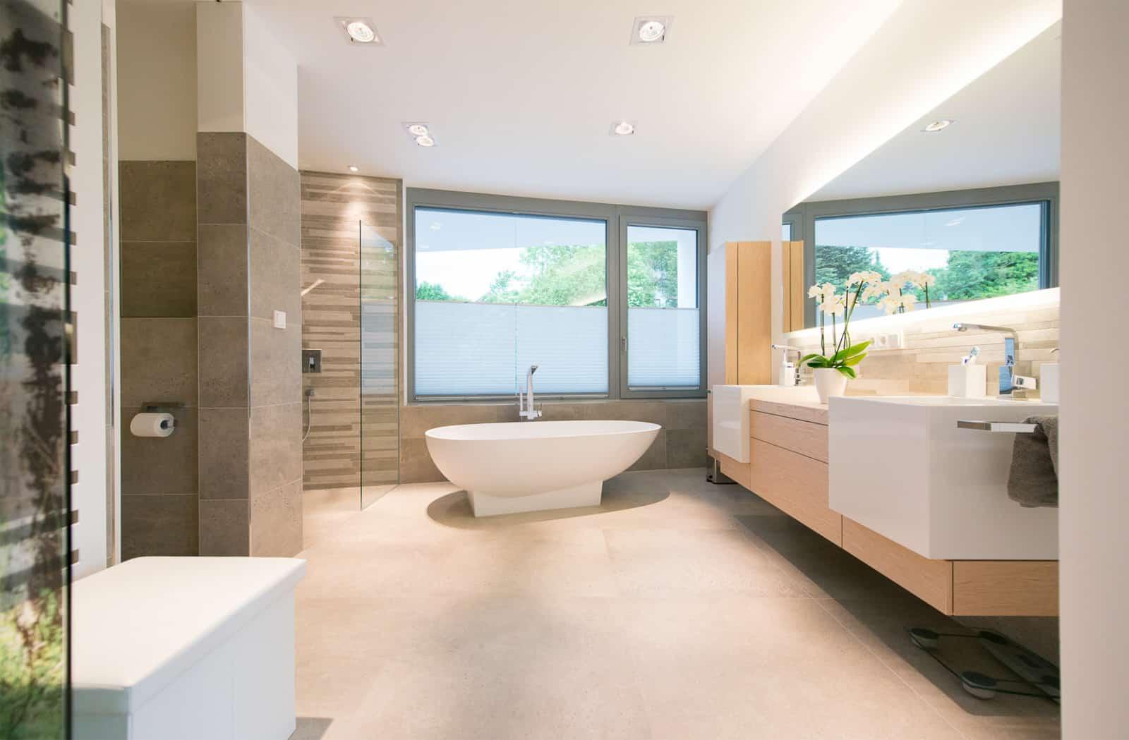 Badezimmer Deisgn modern warm