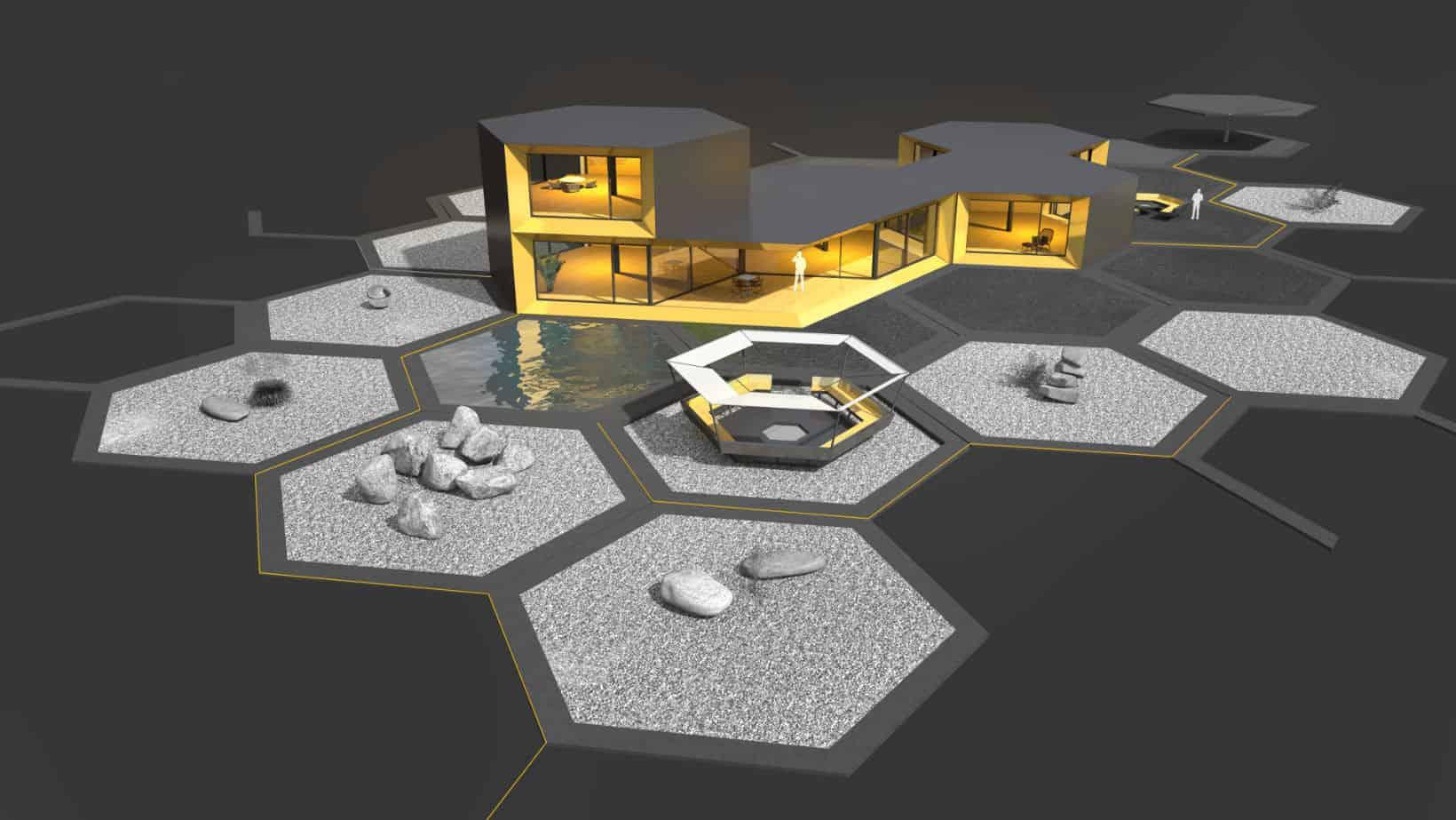 Modulares System für moderne Bürogebäude