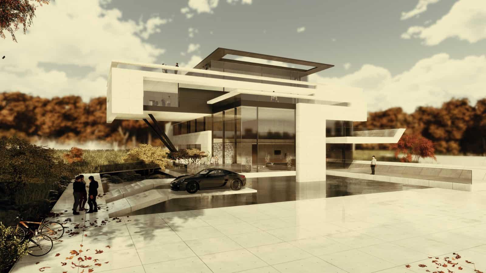 Verwaltungsgebäude moderne Architektur