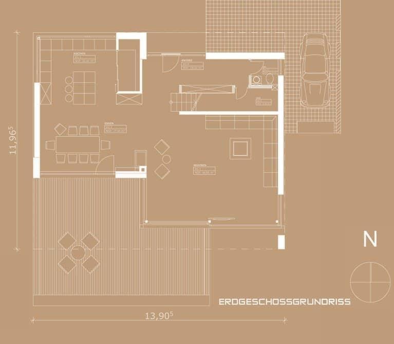 Moderne Häuser Grundriss Beispiel
