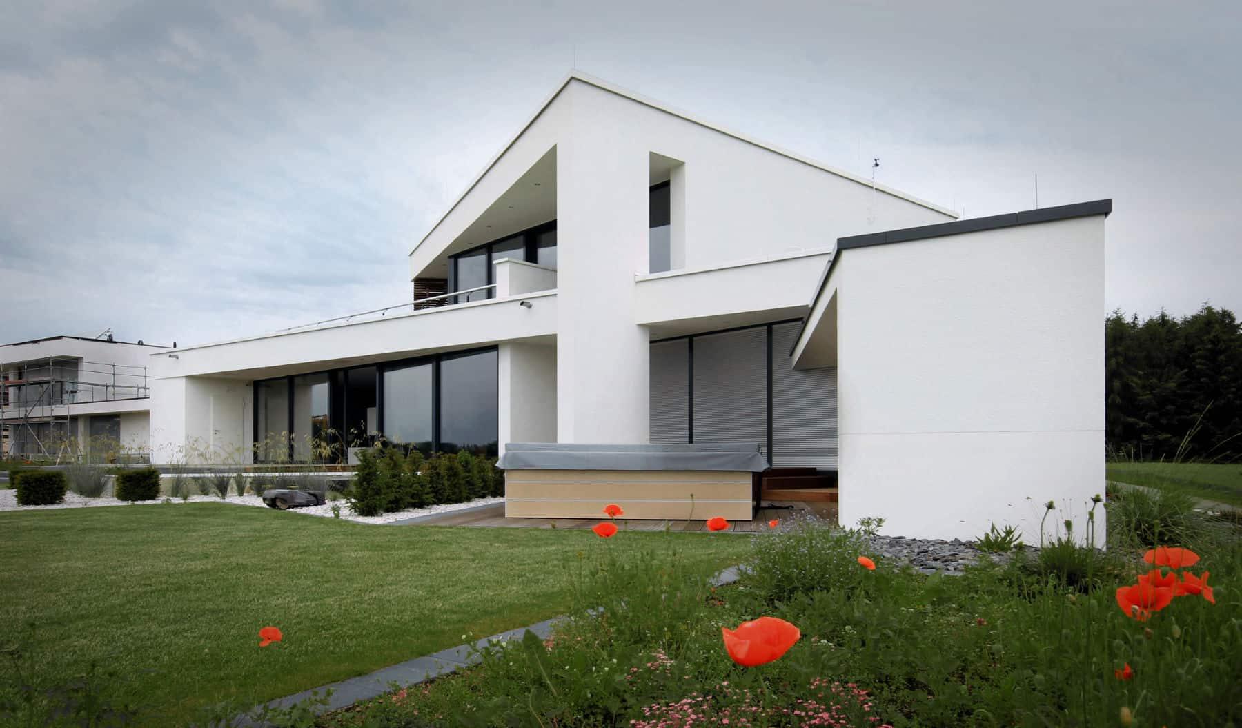 Ansprechend Flachdachhaus Foto Von Modernes