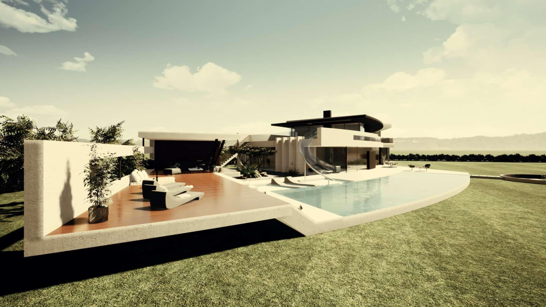 Designvilla mit Pool