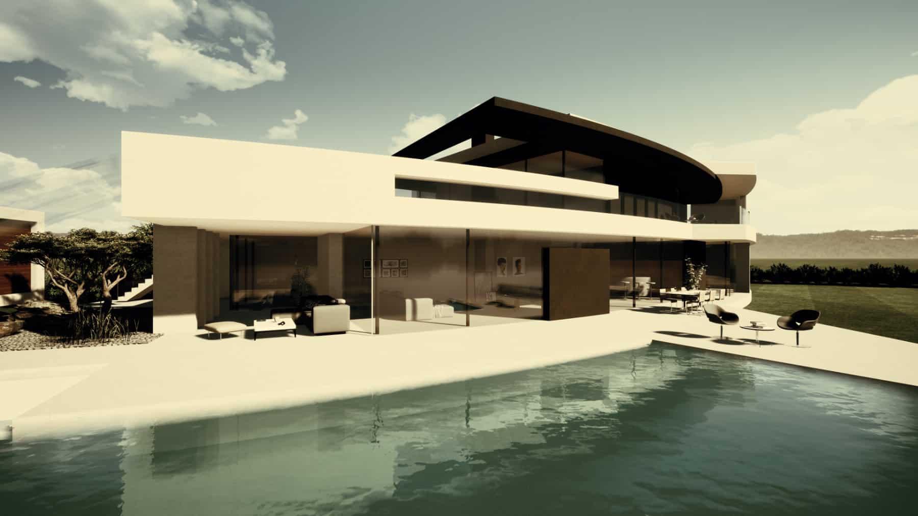 Designhaus mit Pool