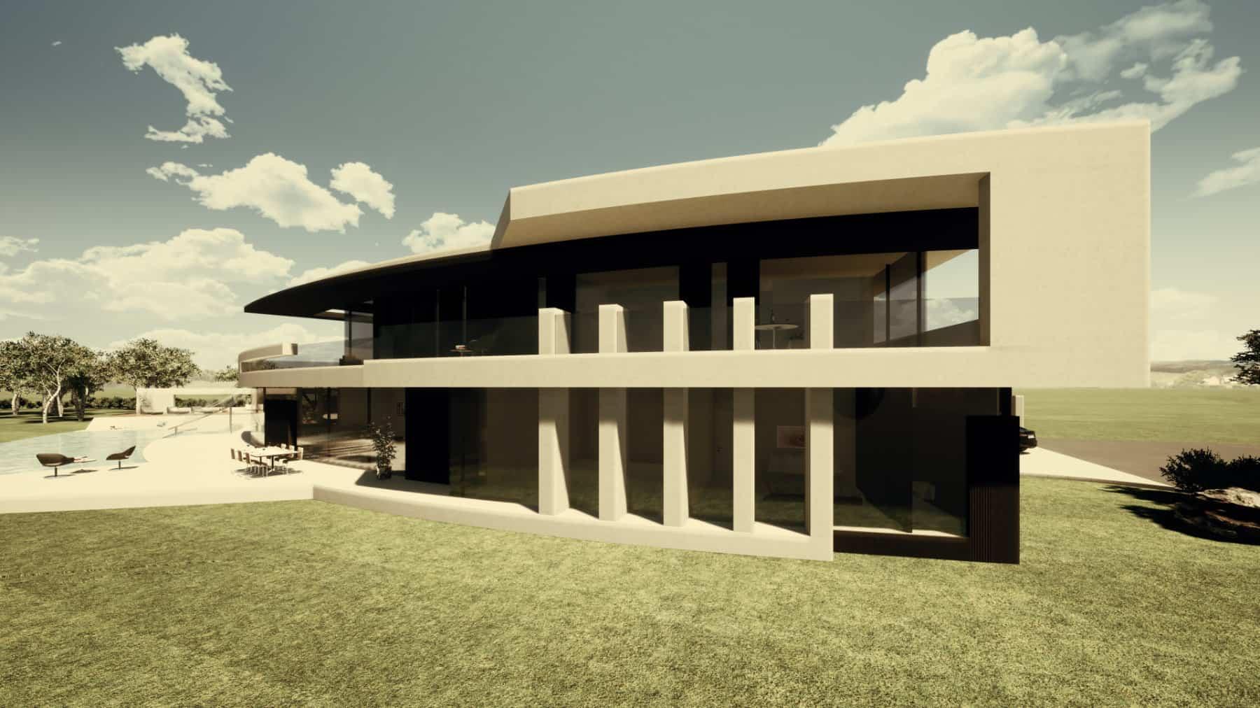 Gebogene Designvilla