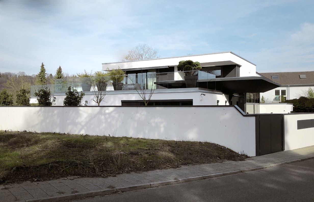 Architektenhaus Karlsruhe Flachdach