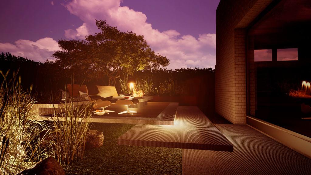 Terrasse mit Feuerstelle