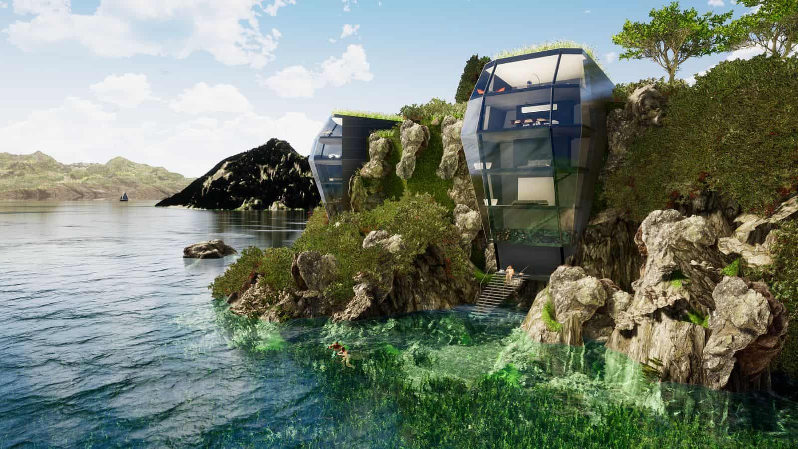 Futuristische Häuser