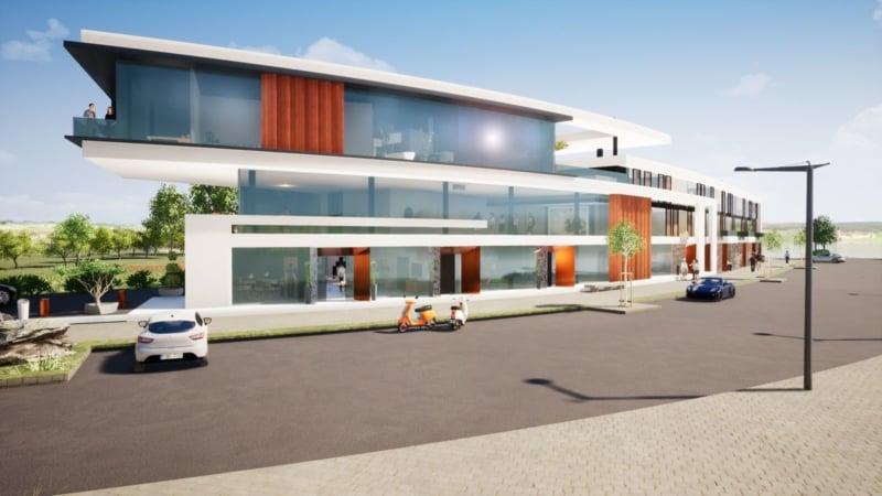 Wohn- und Geschäftshaus am Hafen
