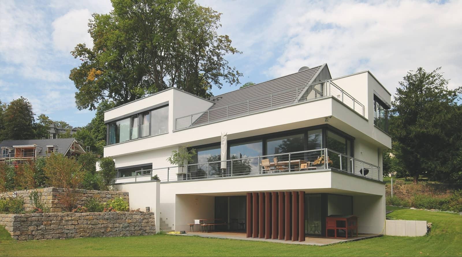 Einfamilienhaus modern Satteldach