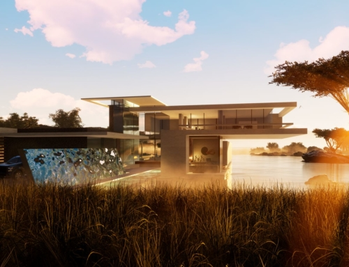 Avantgarde Villa mit Flachdach