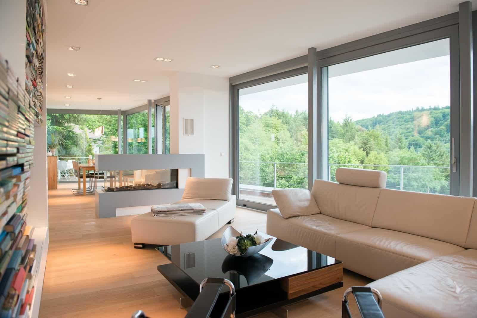 Villa am Hang Ausblick