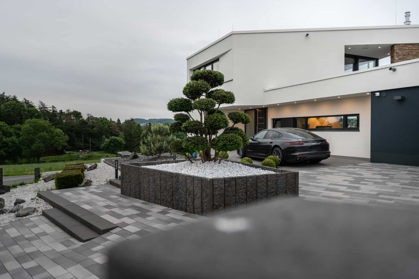 Architektenhaus mit Flachdach