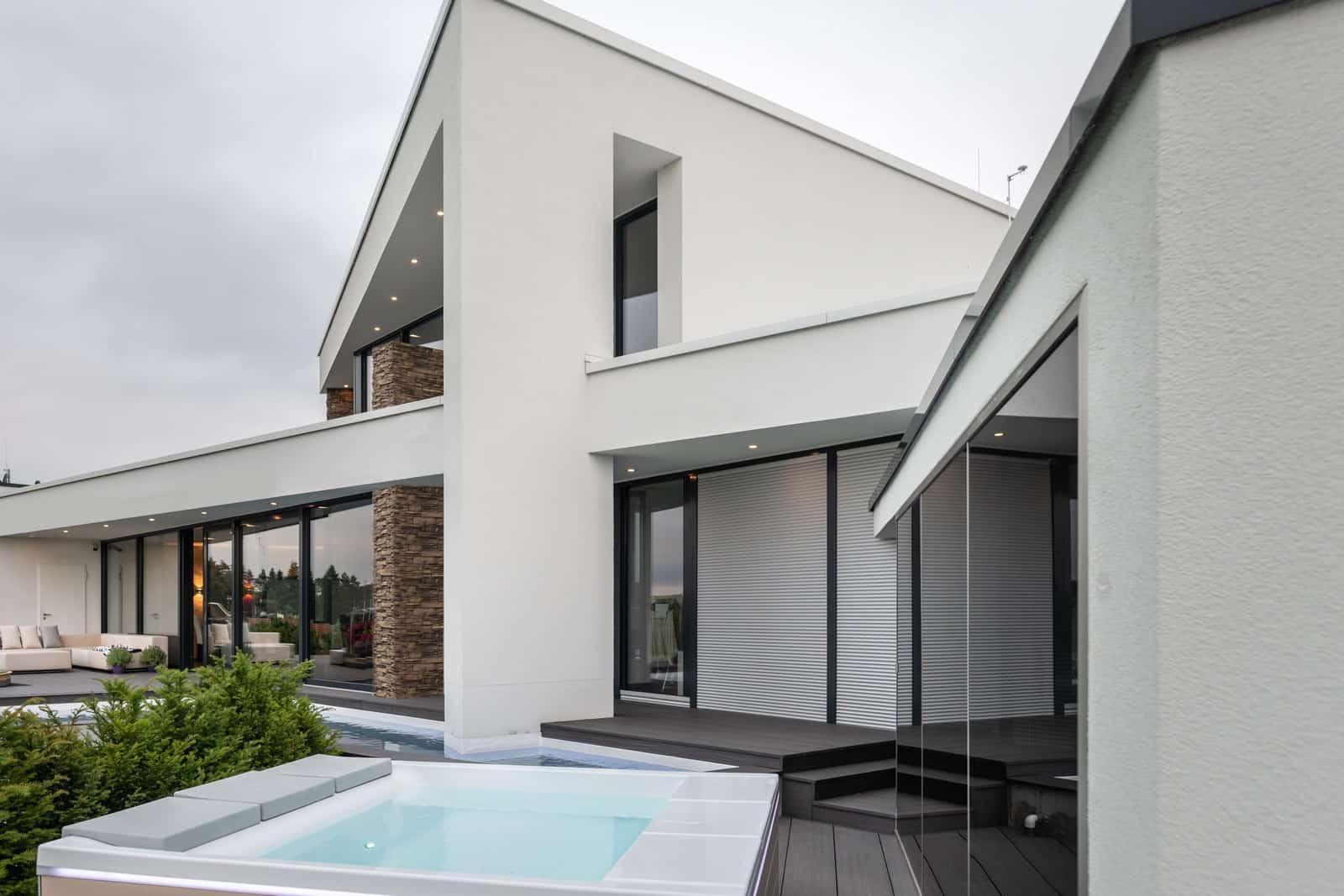 modernes Haus Flachdach