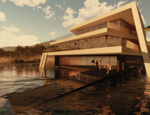 WATERHOUSE: Futuristische Villa im Wasser