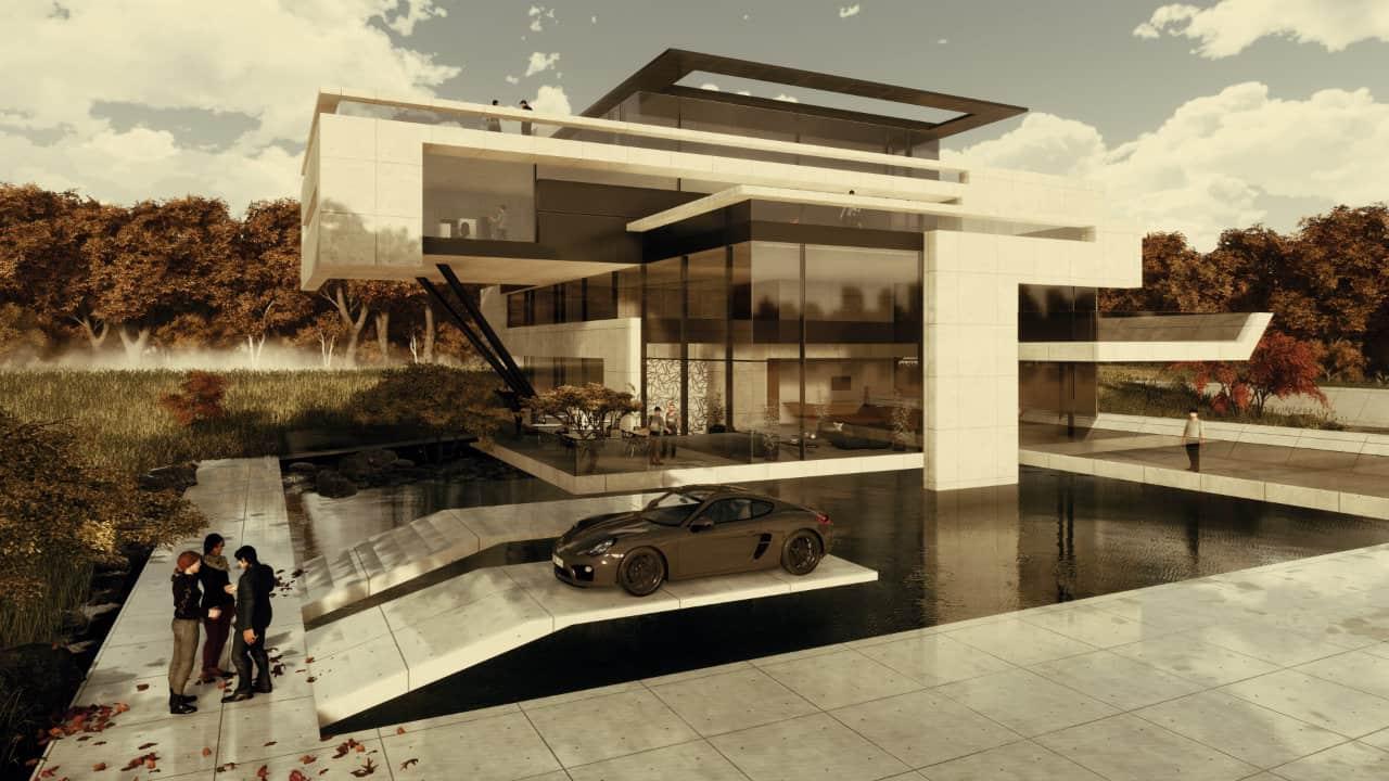 Moderne Villa bauen in skulpturaler Architektur| AVANTECTURE