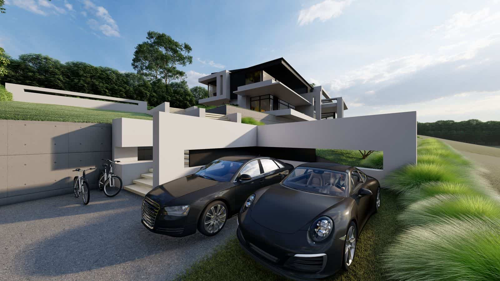 Haus am Hang modern