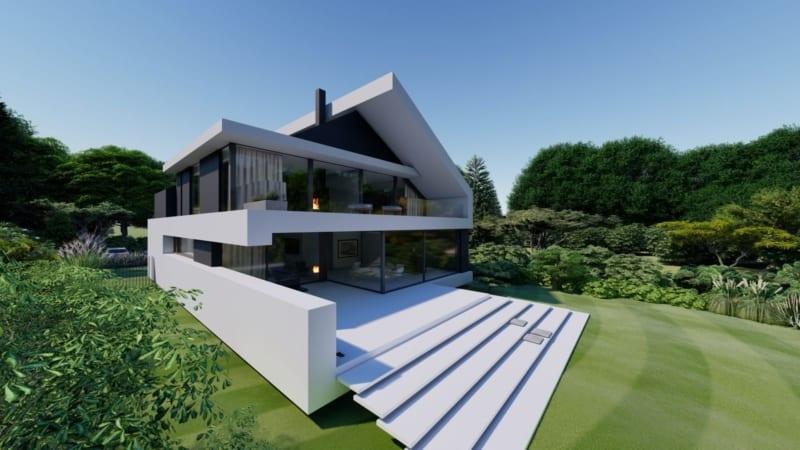 Satteldach im moderner Architektur