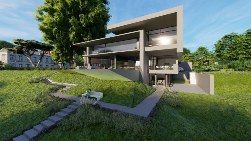 Moderne Stadtvilla in Hanglage