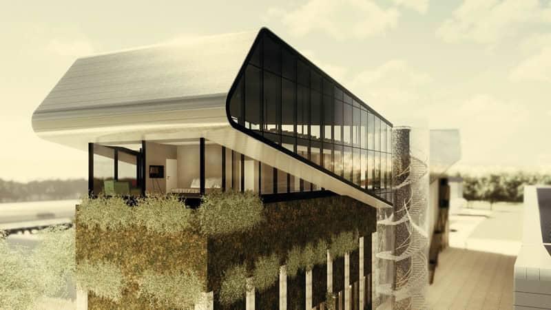 Modernes Technologiezentrum mit Produktions- und Lagerhalle bei GESAMTBILD KOMPLEX UND HAUPTBILD BUNKERAUFBAU