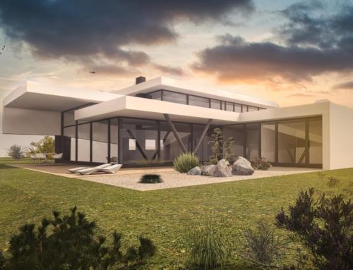 Atriumhaus moderne Architektur