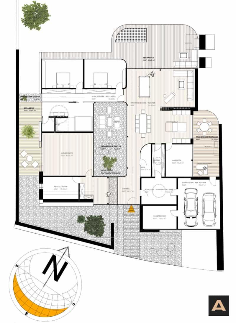 Atriumhaus Grundriss