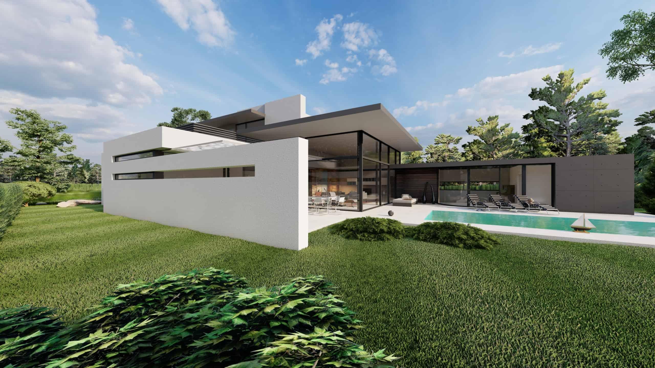 Flachdach Haus